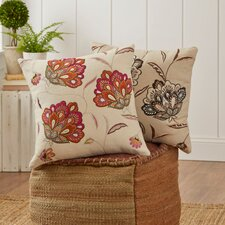 Odette Embroidered Felt Throw Pillow