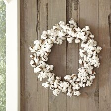 Blooming Cotton Wreath