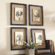 Wise Hound Wall Art (Set of 4)