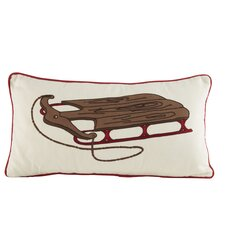 Wooden Sled Pillow Cover