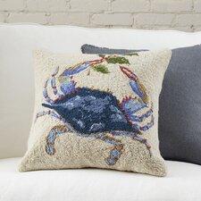 Mistletoe Blue Crab Hooked Pillow