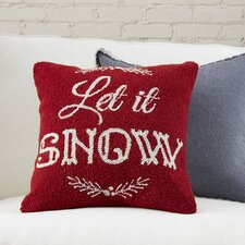 Let it Snow Hooked Pillow