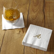 Monogrammed Cocktail Napkins (Set of 6)