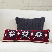 Fair Isle Snowflake Hooked Pillow