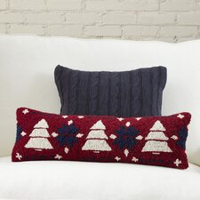 Fair Isle Pine Tree Hooked Pillow