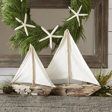 Driftwood Sailboat Decor (Set of 2)