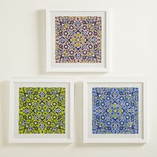Floral Mosaic Framed Print Collection