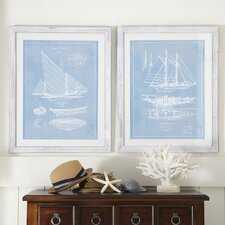 Sailboat Framed Blueprint Collection
