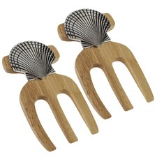 Shell Bamboo Salad Hands (Set of 2)
