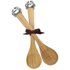 Crab Bamboo Serving Spoon (Set of 2)