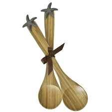 Star Fish Bamboo Serving Spoon (Set of 2)