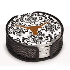 5 Piece University of Texas Collegiate Coaster Gift Set