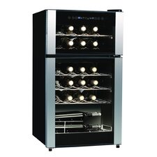 Koolatron 29 Bottle Dual Zone Freestanding Wine Refrigerator