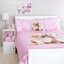 Puppy Love Duvet Cover Queen Bed Set