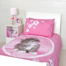 So Sweet Kitten 3 Piece Twin Quilted Comforter Set