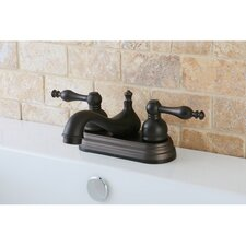 American Classic Double Handle Centerset Bathroom Faucet with Pop-Up Drain