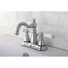 American Patriot Double Handle Centerset Bathroom Faucet with ABS Pop-Up Drain