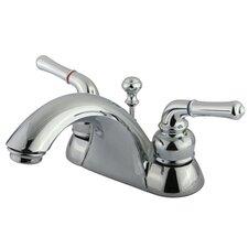 Naples Double Handle Centerset Bathroom Sink Faucet with ABS/Brass Pop-Up Drain