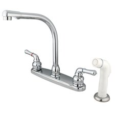 Magellan Double Handle Centerset Kitchen Faucet with Sprayer