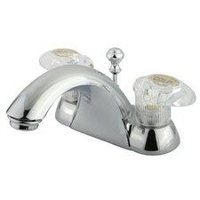 Naples Double Handle Centerset Bathroom Sink Faucet with ABS Pop-Up Drain
