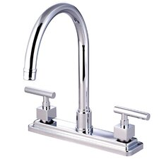 Claremont Double Handle Kitchen Faucet with Non-Metallic Sprayer