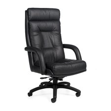 Arturo Executive High-Back Pneumatic Tilter Leather Executive Chair with Arms