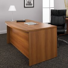 Correlation Double Pedestal Bow Front Executive Desk
