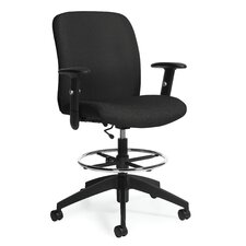 Height Adjustable Drafting Stool with Arms
