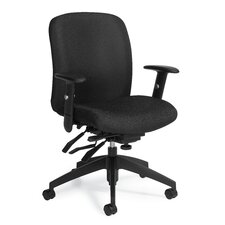 Truform Mid-Back Multi Tilter Office Chair with Arms
