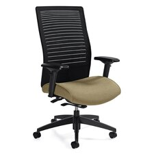 High Back Mesh Chair with Weight Sensing Synchro-Tilter