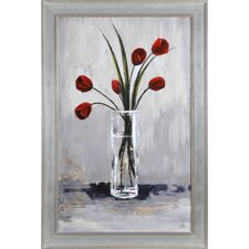New Tulips by Mia Archer Framed Original Painting
