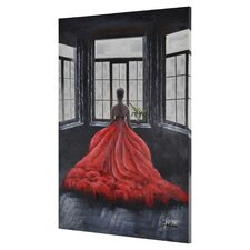 The Dress Painting Print on Canvas in Red