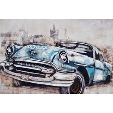 Vintage Car in Blue Wall Art