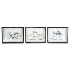 Vintage Bicycles 3 Piece Wall Art