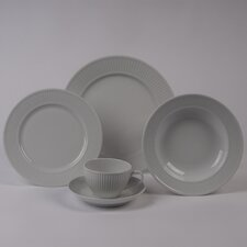 Plisse Rimmed Bowl 5 Piece Dinnerware Collection