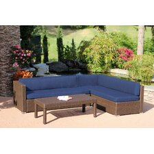 Conversation 3 Piece Deep Seating Group with Cushions