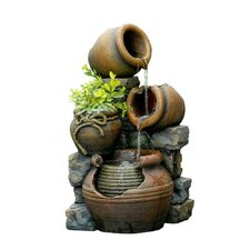 Polyresin and Fiberglass Multi Pots Fountain