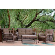 Cromwell 4 Piece Seating Group with Cushions