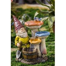 Polyresin and Fiberglass Gnome Garden Fountain