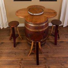 Wine Barrel 6 Piece Dining Set