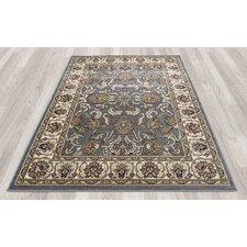 Regal Traditional Persian All-Over Pattern Blue Area Rug