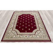 Regal Traditional European Red Area Rug