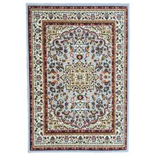 Paterson Traditional Medallion Design Grayish Blue Area Rug