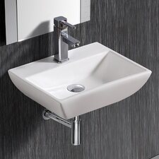 Wall Mounted Rectangular Compact Sink