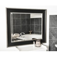 Black With Silver Cage Wall Mirror