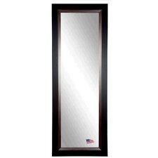 Ava Sleek Black with Brown Grain Lining Full Length Body Mirror