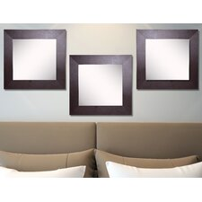 Ava Wide Leather Wall Mirror (Set of 3)