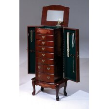 Jewelry Armoire with Mirror