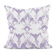 Floral Motifs Cotton Throw Pillow