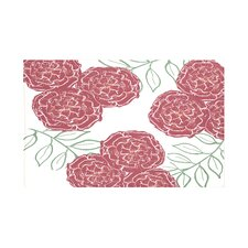 Mums The Word Floral Print Throw Blanket